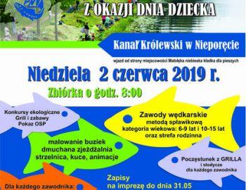 Festyn wędkarski z okazji Dnia Dziecka 2019 r