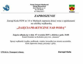 Szkółka wędkarska 07.09.2019 r